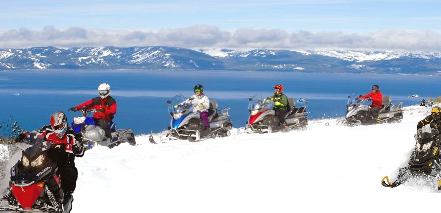 Lake Tahoe Snowmobiling Tours   winter Snowmobile Adventures on snow