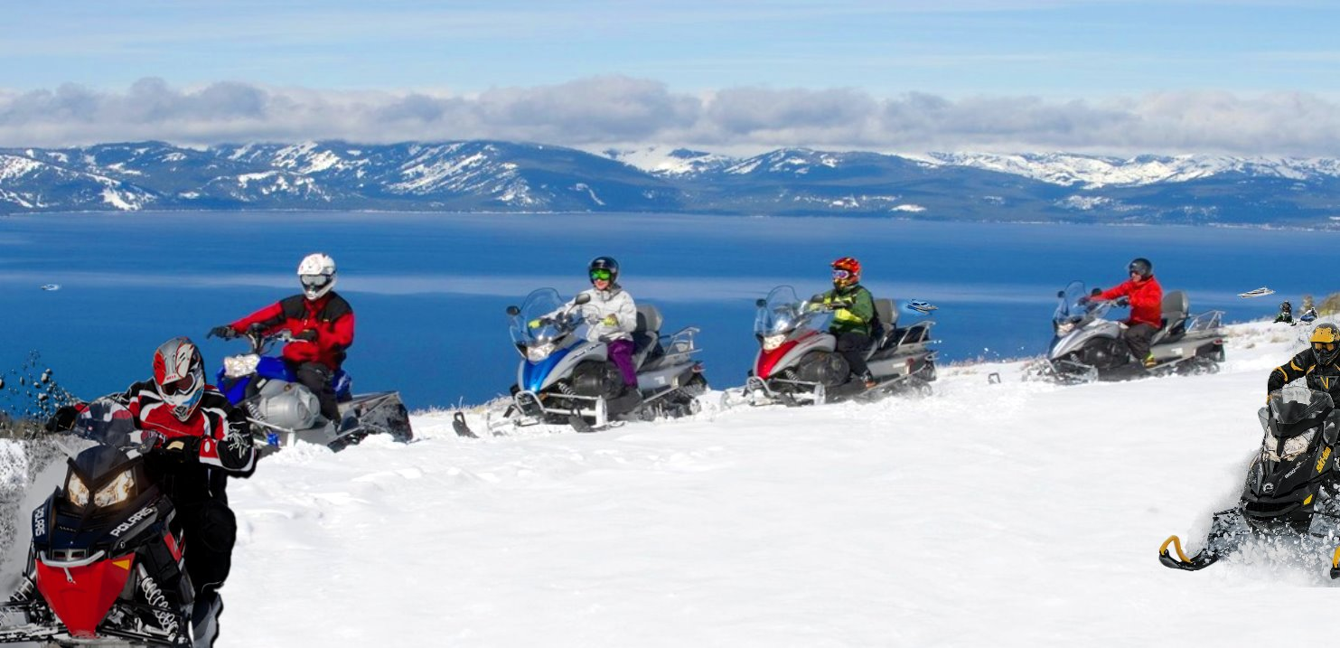 Lake Tahoe Snowmobiling Tours in winter