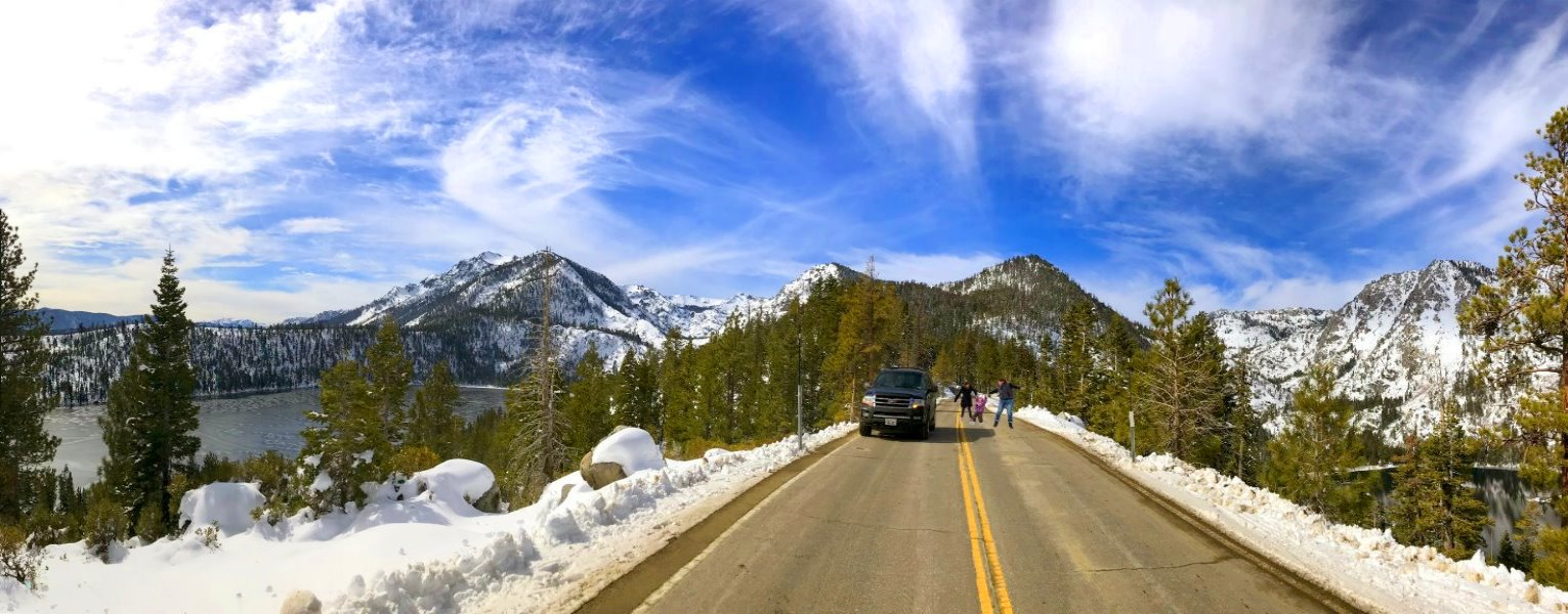 Wintertime tour package to Yosemite and Lake Tahoe outdoor adventures
